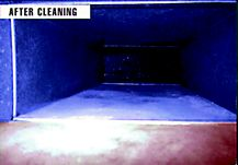 This is an air duct after cleaning and mold removal